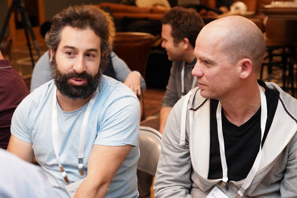 ערן חפץ (מימין) וניר זברו באחד ממפגשי הצ'פטר הרבים